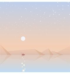 Soft landscape background vector