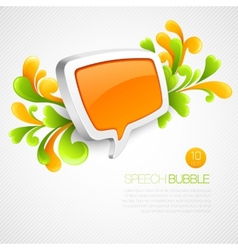 Speech bubble swirling pattern vector image vector image