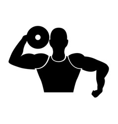 strong man human figure vector image vector image
