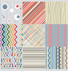 textile or paper retro background set vector image vector image