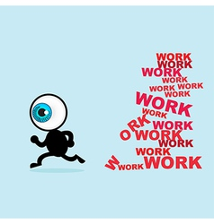 The blue eye escape for many work vector image vector image