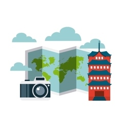 travel and cities design vector image vector image
