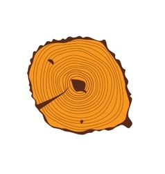 Tree wood slices vector