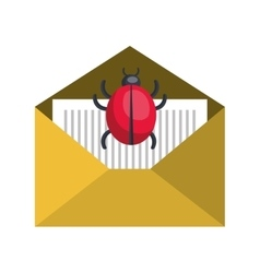 virus infection bug icon vector image