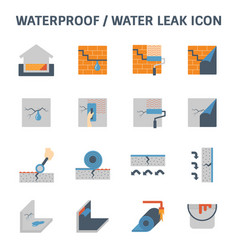 Waterproofing water leak vector