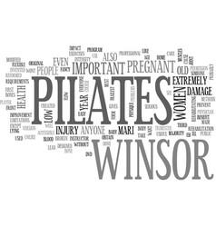 Winsor pilates text word cloud concept vector
