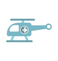 Helicopter ambulance emergency fly icon vector