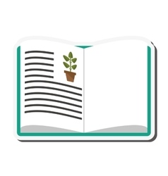 Biology book icon vector