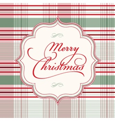 Merry Christmas tartan vector image