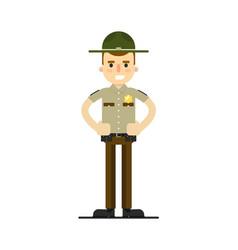American sheriff in uniform vector