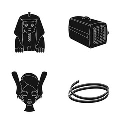 Sphinx container for an animal and other web icon vector
