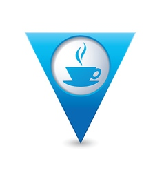 cafe icon map pointer blue vector image