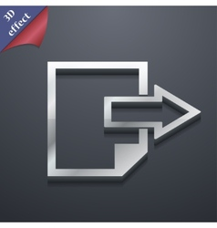 Send export file icon symbol 3d style trendy vector