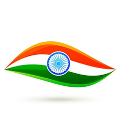 Simple indian flag style design vector