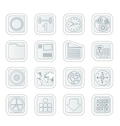 Mobile phone computer and internet icons vector