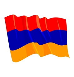 Political waving flag of armenia vector