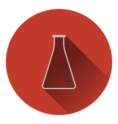 Icon of chemistry cone flask vector