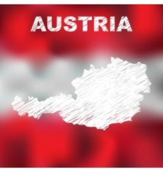 Austrian abstract map vector