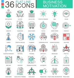 Business motivation discipline modern color vector