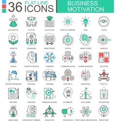 Business motivation discipline modern color vector image vector image