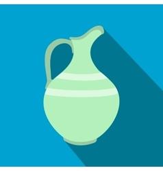 Ceramic jug flat icon vector image vector image