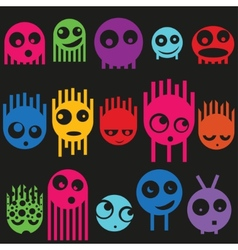 Cute monsters seamless pattern vector image vector image
