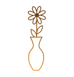 Decorative vase with flower vector