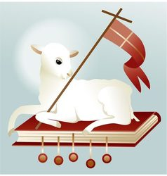 Easter lamb of God vector image vector image