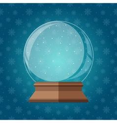 Empty magic snow globe Christmas snowglobe gift vector image vector image