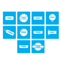 Flat color free icon set vector