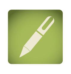 Green emblem ballpoint icon vector
