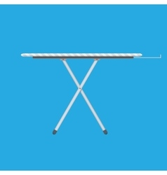 Ironing board with stripe pattern vector image