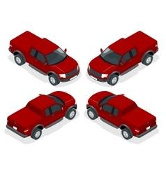 Isometric Pickup truck vector image vector image