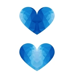 low poly ice heart vector image