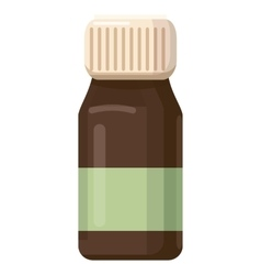 Medicine brown bottle icon cartoon style vector