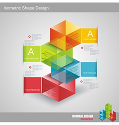 Modern Design template isometric style vector image vector image