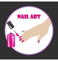 nail art vector image vector image
