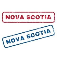 Nova scotia rubber stamps vector