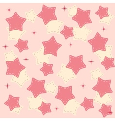 Pinr stars background vector image