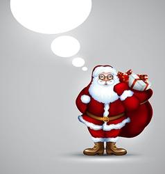 Santa holding sack christmas vector