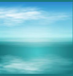 Sea landscape in sunny day vector
