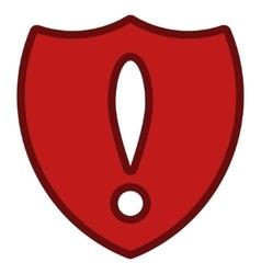 Shield problem toolbar icon vector