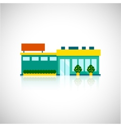 Supermarket icon flat vector