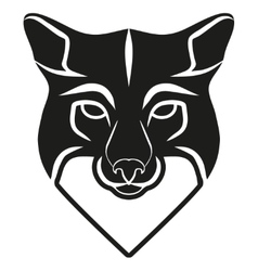 Symbol head of the old fox vector