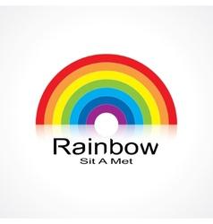 symbol rainbow vector image