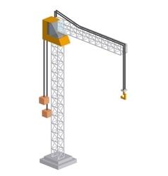 tower crane isometric icon vector image