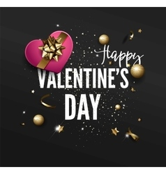 Valentines day party greeting card or flyer vector