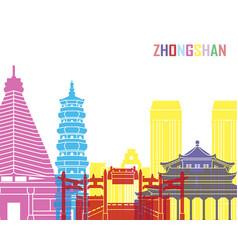zhongshan skyline pop vector image vector image