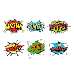 Comics bubbles for emotions and explosions vector