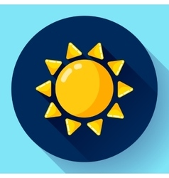 Flat color weather meteorology icon with vector